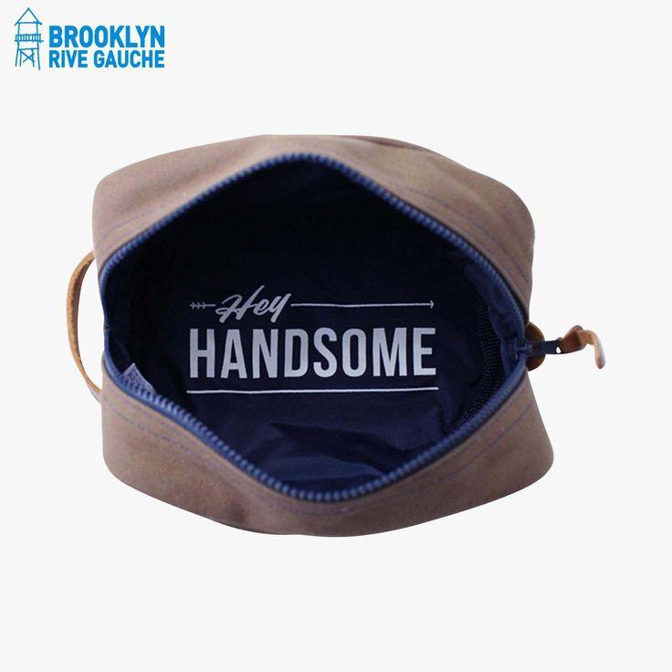 Trousse de toilette, marron - Owen & Fred #LeBonMarche #BrooklynRiveGauche #brooklyn #newyork #nyc #ny #sac #bag #accessoires #accessories #fashion #mode #men #homme #trousse