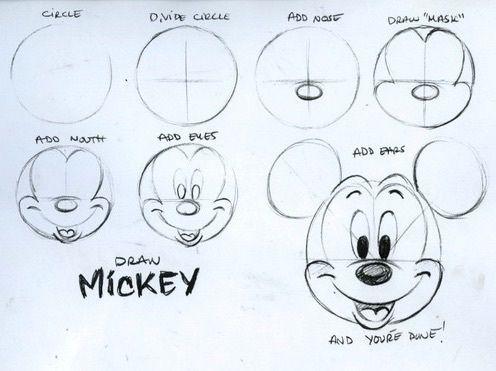 draw, mickey, and disney image