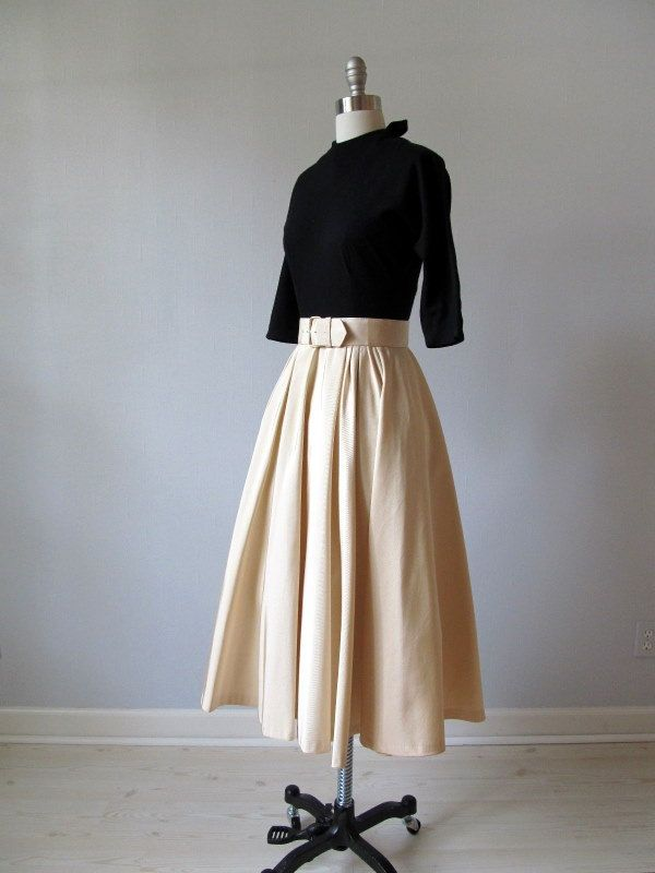 vintage 1950s Casual Elegance Party Dress by TheVintageMistress