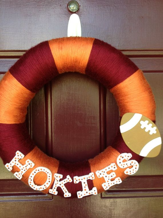 12 Virginia Tech football striped yarncovered by ACraftyWelcome, $35.00