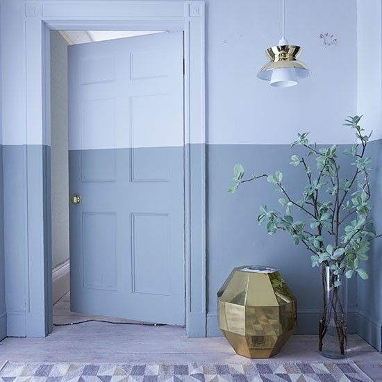 Blue hallway with painted dado rail | Hallway ideas for unforgettable first impressions | housetohome.co.uk