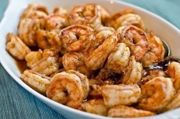 шеф-повар Одноклассники: Креветки в маринаде из чеснока, имбиря и чили