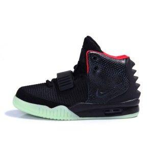 Nike Air Yeezy 2 Femmes Chaussures Noir / Rouge Anticipation autour de la  sortie de la