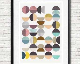 geometrica stampa arte astratta arte geometrica manifesto di handz