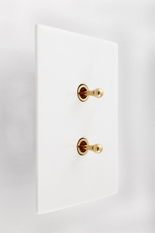 Meljac Limoges Glazed Porcelain Plate, Two Switches