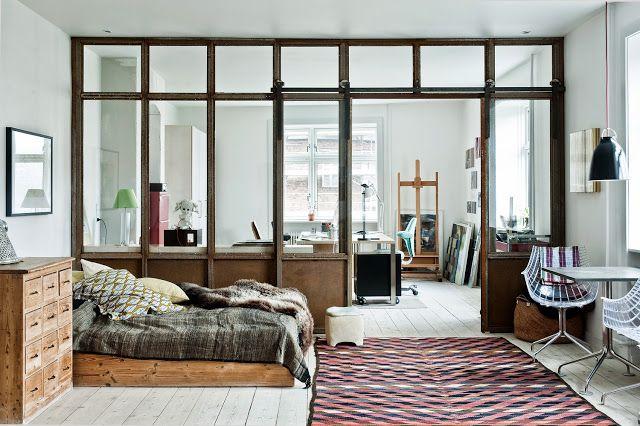 Copenhague / Chambre avec verrière /