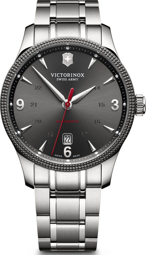 Victorinox Swiss Army Watch Alliance #bezel-fixed #bracelet-strap-steel #brand-victorinox-swiss-army #case-material-steel #case-width-40mm #classic #date-yes #delivery-timescale-call-us #dial-colour-black #gender-mens #movement-automatic #official-stockist-for-victorinox-swiss-army-watches #packaging-victorinox-swiss-army-watch-packaging #style-dress #subcat-alliance #supplier-model-no-241714-1 #warranty-victorinox-swiss-army-official-3-year-guarantee #water-resistant-100m
