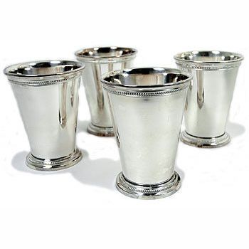 silver mint julep cupsvases set of 4