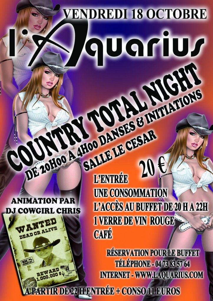 Country total night. Le vendredi 18 octobre 2013 à Tallende.
