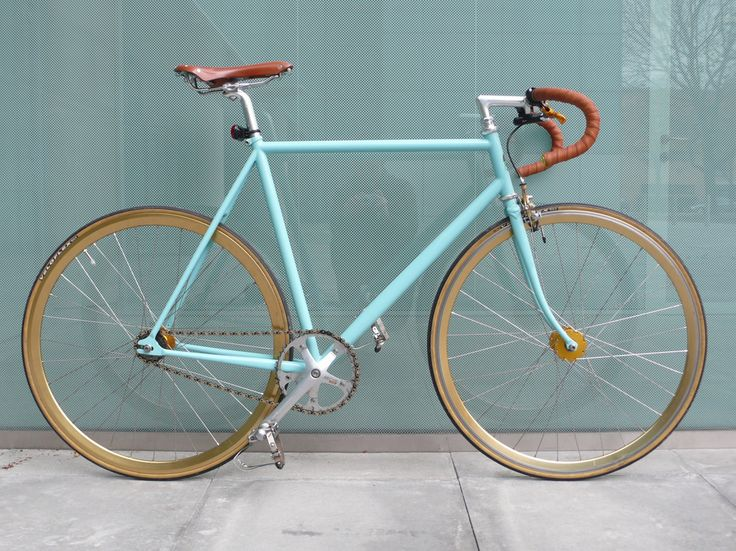 https://flic.kr/p/8V8pDx | Custom Bianchi Pista — My Ride | Finally finished my current project.  I was building around a cheap 2007 Bianchi Pista frame and trying to get a mix of classic looks and a good, solid ride.  Drive train: Miche BB + Primato Cranks + Phil wood cog & hubs + Izumi super toughness chain Wheels: Velocity deep-Vs, Phil spokes, Phil hubs Custom pantographed Campag Record front brake Brooks leather saddle & bar tape Vintage Cinelli Criterium drops, Cinelli stem  Ha...