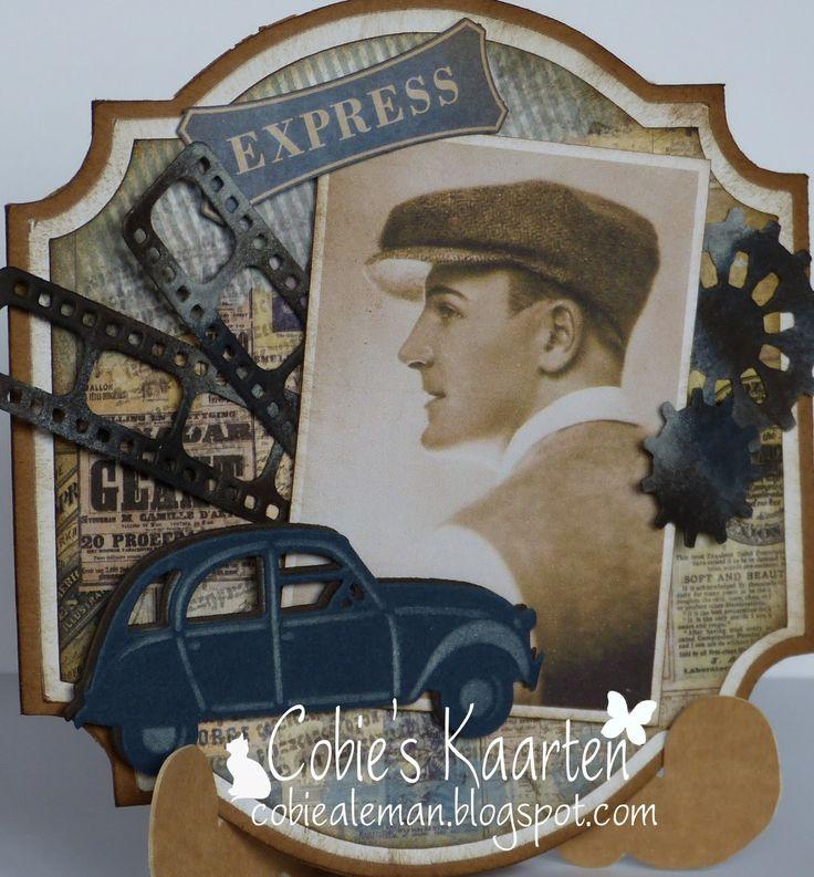 Cobie's kaarten: Vintage mannen kaart