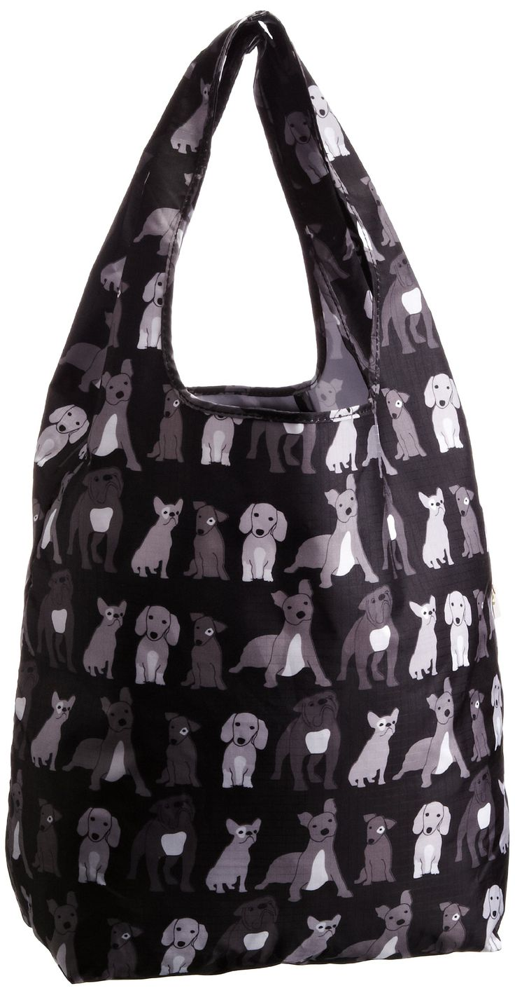 Re-uz Women's Carrier Gym Shopping Water Resistant Holiday Bag Dogs RU2003-D: Amazon.co.uk
