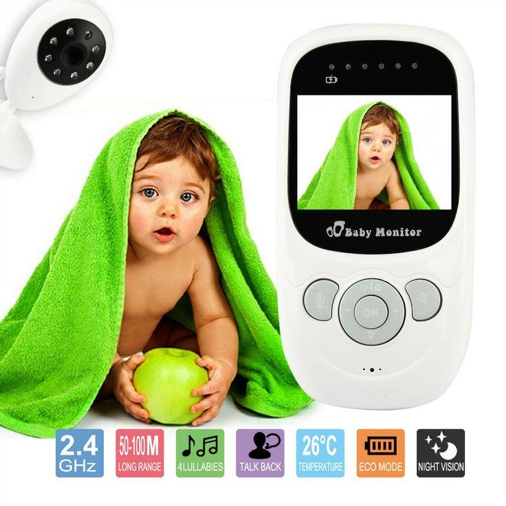 2.4 Дюймов Монитор Младенца Беспроводной Цифровой babyfoon камеры Видеонаблюдения двусторонней Обсуждение Ночного Видения 4 Колыбельные Температура 2.4 ГГц