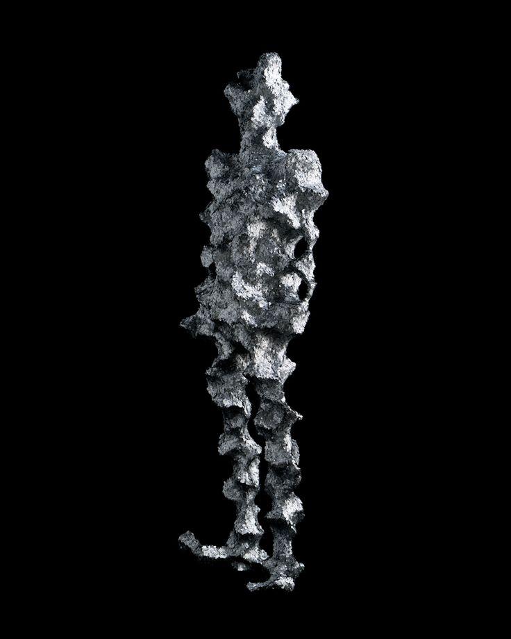 """Caras Texturizado Kohei Nawa, CdC, 05-09  """"TRANS"""" es la última serie de obras escultóricas del artista japonés Kohei Nawa .   Cada pieza es una representación suelto de una figura humana, cuya forma ha sido extraída a través de la aplicación de diversos procesos de acabado a la superficie de los motivos 3D escaneados a través de mapeado de texturas."""