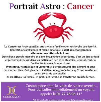 portrait astrologique du cancer avec cancer zodiaque pinterest photos. Black Bedroom Furniture Sets. Home Design Ideas