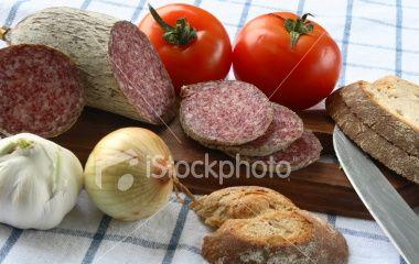 Salami Cut 2 Royalty Free Stock Photo