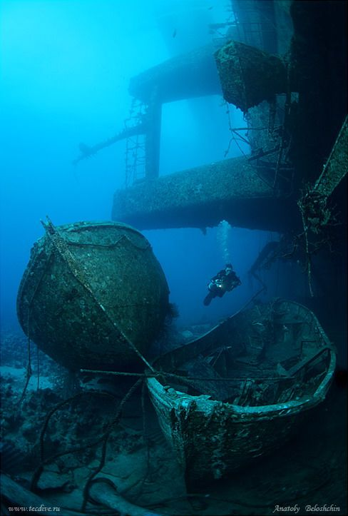 The wreck in the Red Sea between Egypt and Saudi Arabia.