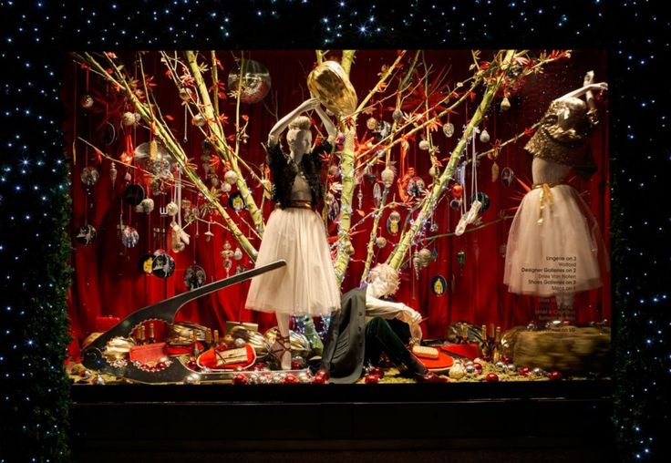 Photos: Photos: Around the World in 2012 Holiday Windows | Vanity Fair SELFRIDGES A large-scale nutcracker at the bottom left stands ready for the gold-encased nut that our heroine is extracting from the tree, covered in ornaments and Christmas goodies.