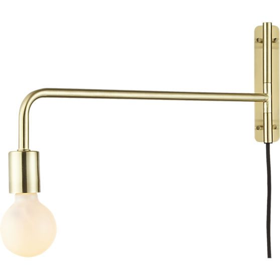 Option 4: All aglow in brushed brass, this steel construction by Lime Studio works all the light angles with a simple swivel, casting light right where you need it.