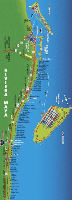 (Mexico) - Riviera Maya Map