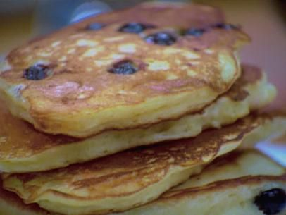 Blueberry Buttermilk Pancakes. To make the buttermilk at home combine 2 cups of milk with 9 tsp of white vinegar and allow to set for 10-15 minutes. The milk will curdle.