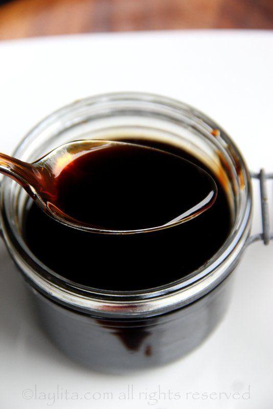 Reducción de vinagre balsámico casero