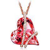 MARENJA Cristal-Regalos Navidad-Collares Mujer Búho Chapado en Oro Blanco Cristal Púrpura Negro 60-65cm: Amazon.es: Joyería
