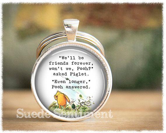 Best Friend Keychain  Long Distance Friendship by SuedeSentiment