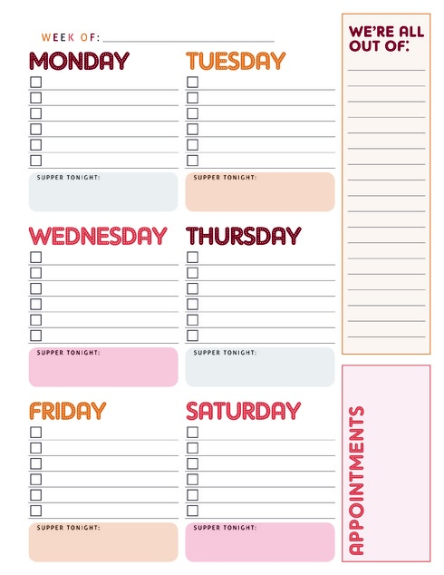 Best  Week At A Glance Printable Ideas On   At A