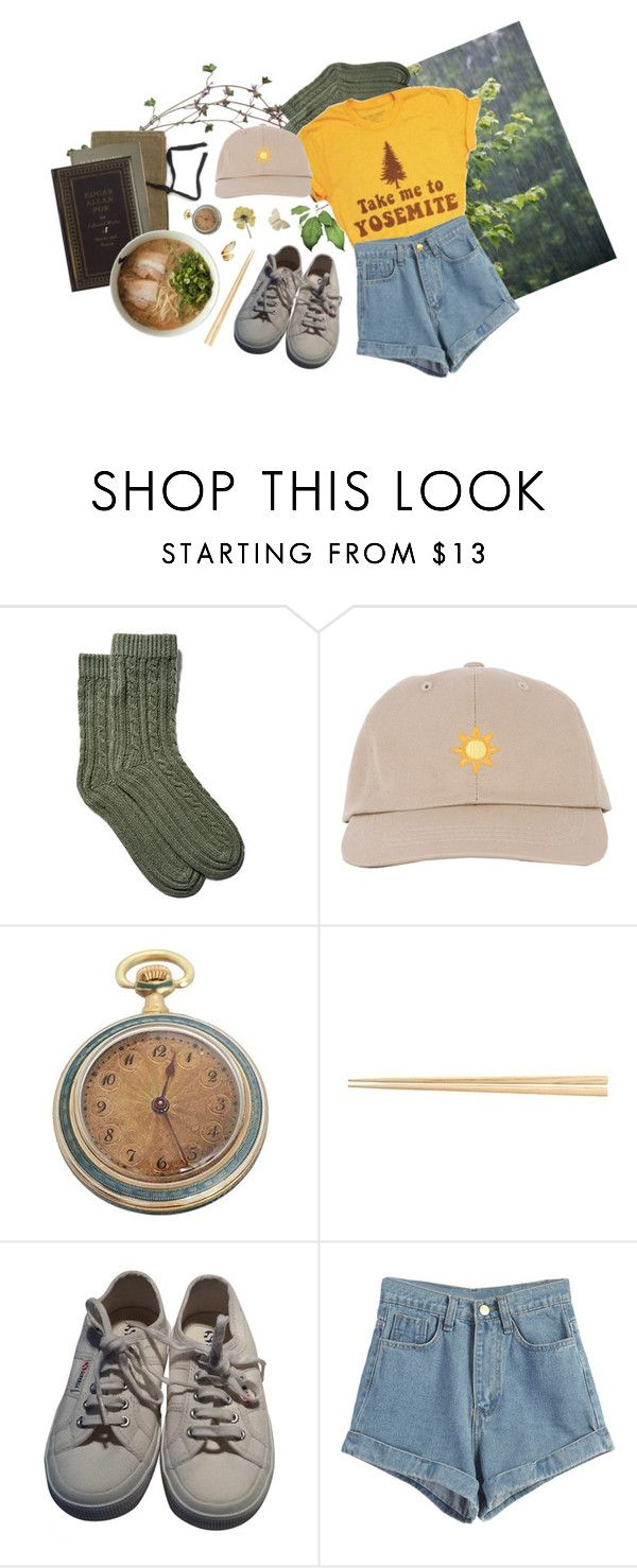 """""""drops"""" by paper-freckles ❤ liked on Polyvore featuring Portolano, Superga and WithChic"""