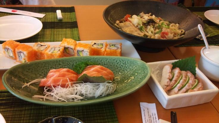 Japanese sashimi and sushi