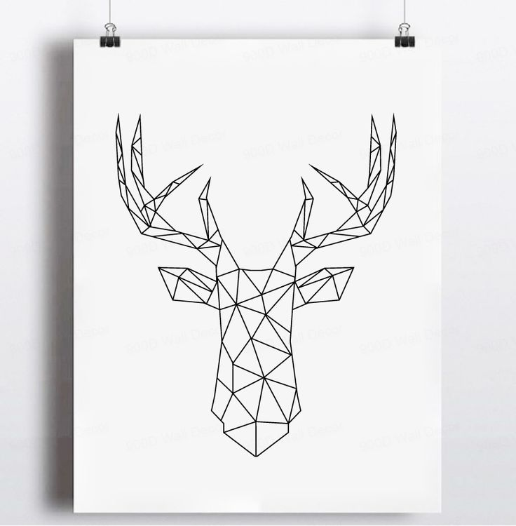 Aliexpress.com : Buy Geometric Deer Head Canvas Art Print Poster, Wall Pictures for Home Decoration, Wall decor FA221 8 from Reliable picture manufacturers suppliers on 900D    Alibaba Group