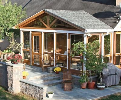 A-Frame Screened Porch | Small Buildings, Sheds, Cabanas, Porch Systems and Pool Houses from Walpole Woodworkers