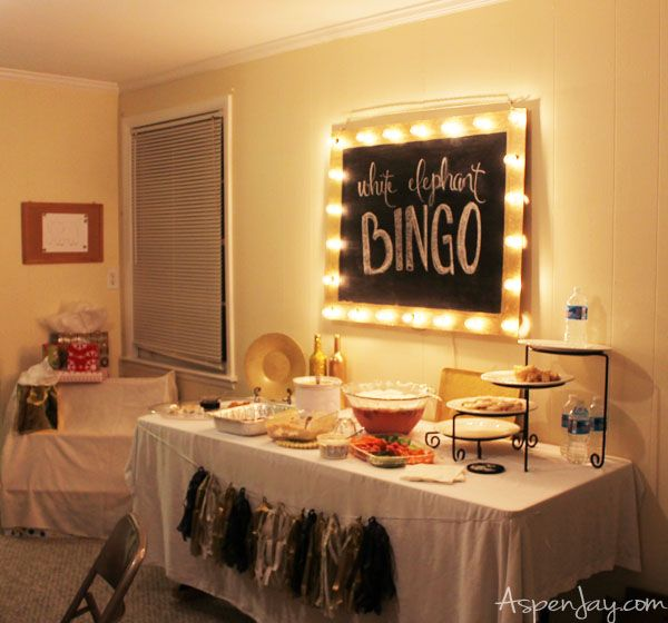 White Elephant Bingo Party! What a great idea for a party!