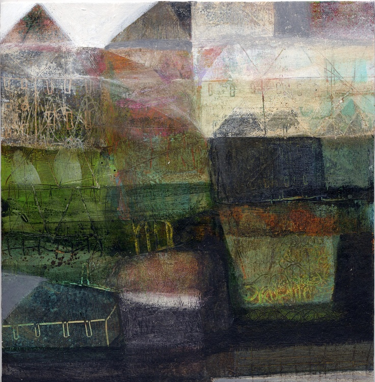 "ANNE DAVIES. Spring.  8""x8""; 2009"