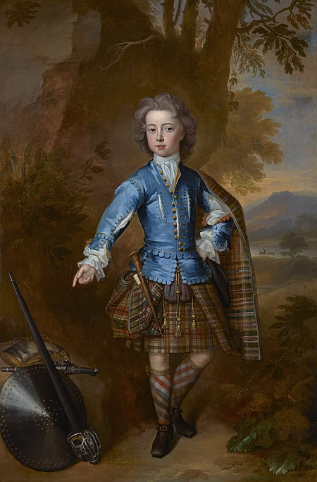This portrait of John Campbell is an important early depiction of Highland dress. The elaborate costume and landscape background indicate the status of the young sitter, who was heir to one of the great Highland families, the Campbells of Glenorchy. John Campbell was born in London and educated in Oxford. From 1720 until 1729 he was a diplomat at the Danish court in Copenhagen and in 1731 he became ambassador to Russia. Campbell was also an elected MP. He succeeded his father as Earl of…