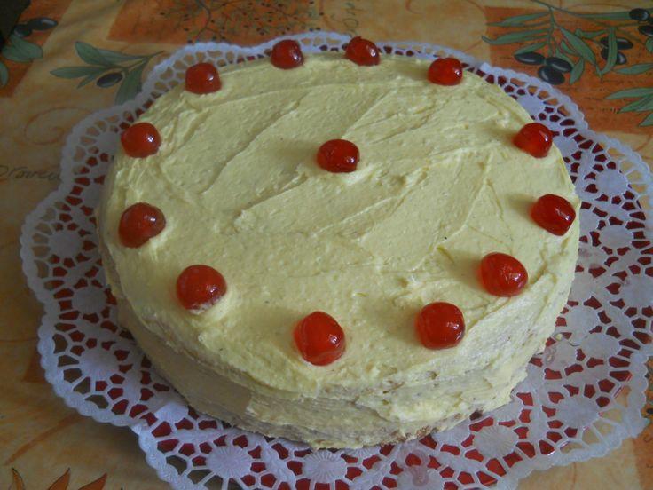 Vaníliás vajkrémes torta