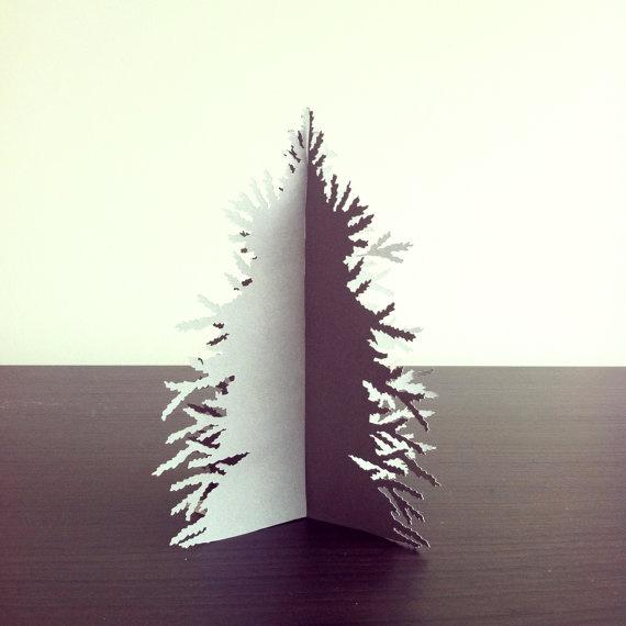 Paper cut Christmas tree decoration