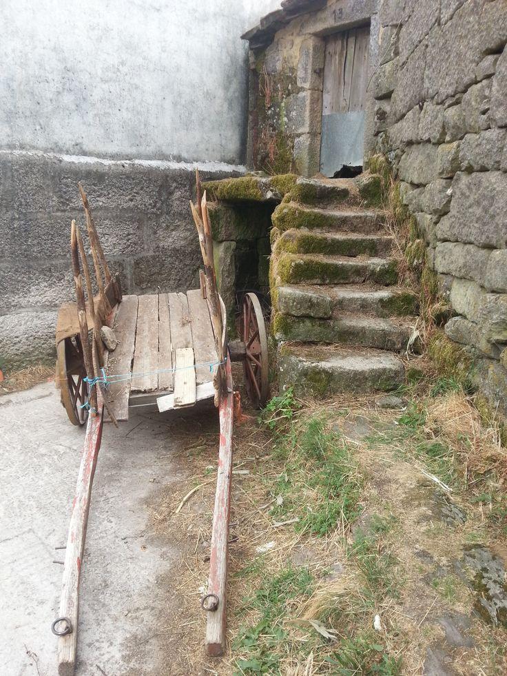La charrue, l'escalier et la mousse. Gralhas (près de Montalegre). Nord du Portugal 2013