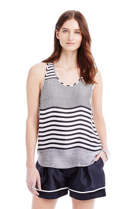 Striped Racerback Shell - Tanks & Camis - Womens - Armani Exchange