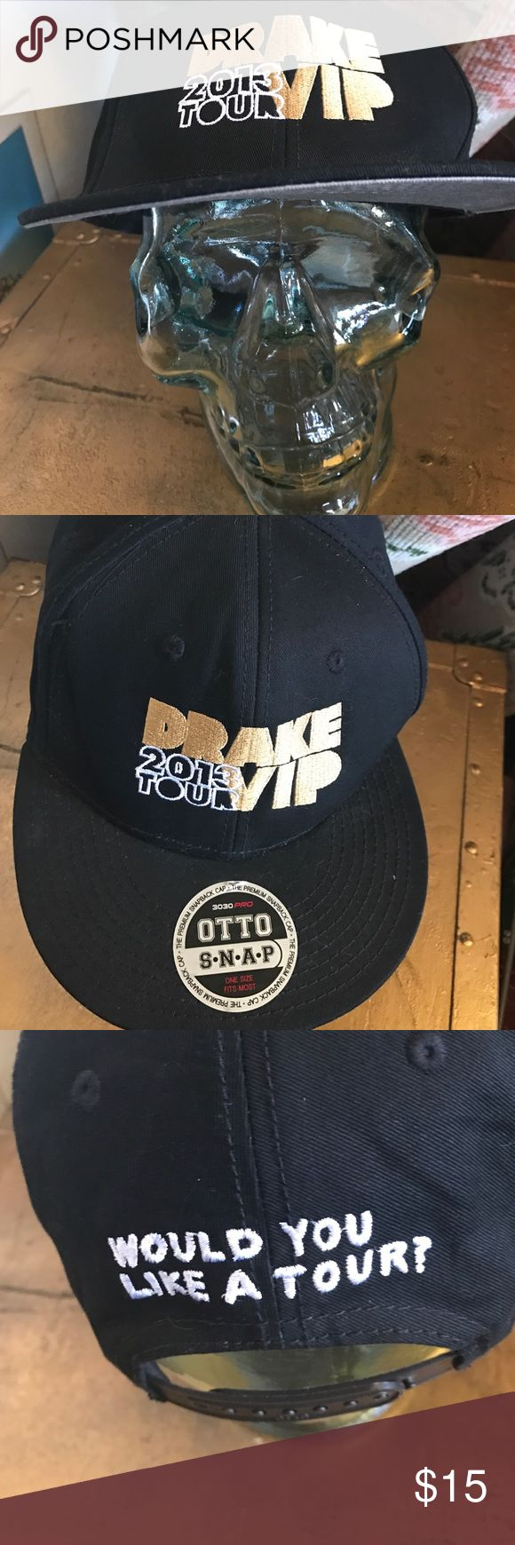 Drake tour hat Tour hat from 2013. One for the books 📚 open to offers ❌not urban outfitters ❌ Urban Outfitters Accessories Hats