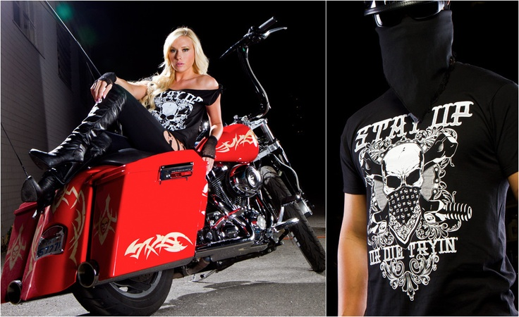 Stay Up. Motolifestyle Tee: Stay Up or Die Tryin'