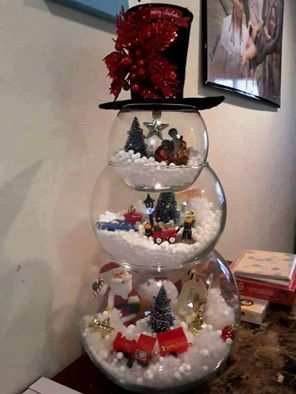 FISHBOWL SNOWMAN - Saving this idea for Christmas! Love it!! What do you think? http://www.craftymorning.com/fish-bowl-snowman-craft