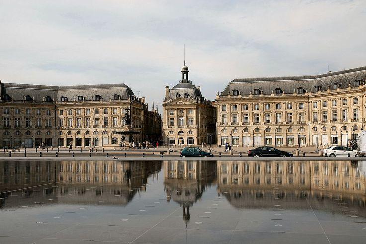 Miroir d'eau place de la Bourse  ---- Bordeaux