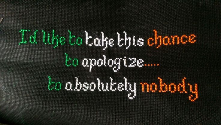 Conor McGregor Cross Stitch Qoute from UFC 205. Double champ does what he wants .