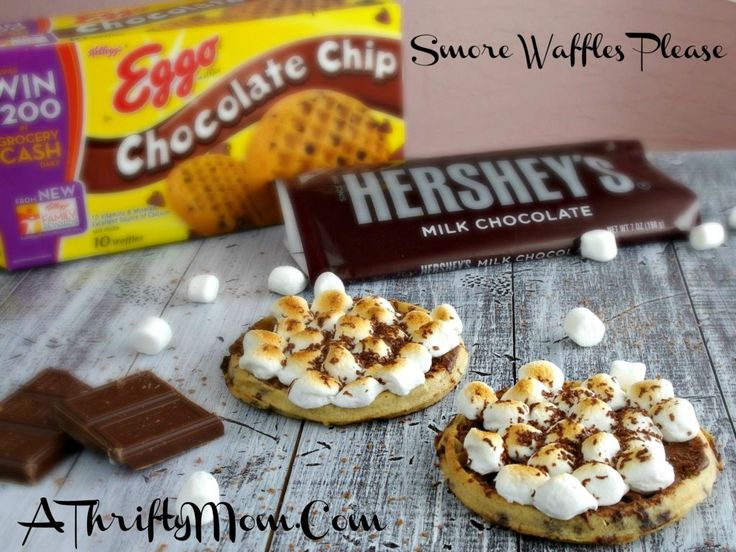 Smore Waffles, Eggo Chief Waffle Officer, Eggo Week Of Waffles, Great Eggo Waffle Off, Recipes Using Eggo Waffles, Money Saving