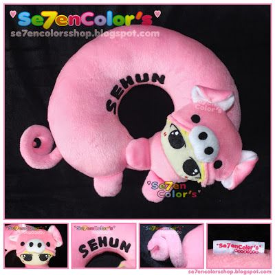 SEHUN of EXO Neck Pillow - Pig Ver.