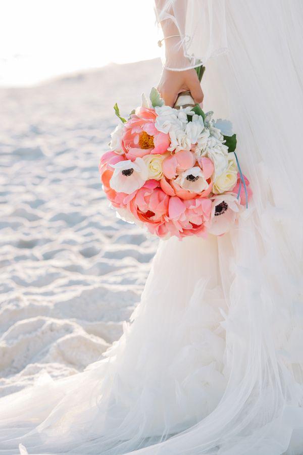 coral charm peony bouquet   Dear Wesleyann