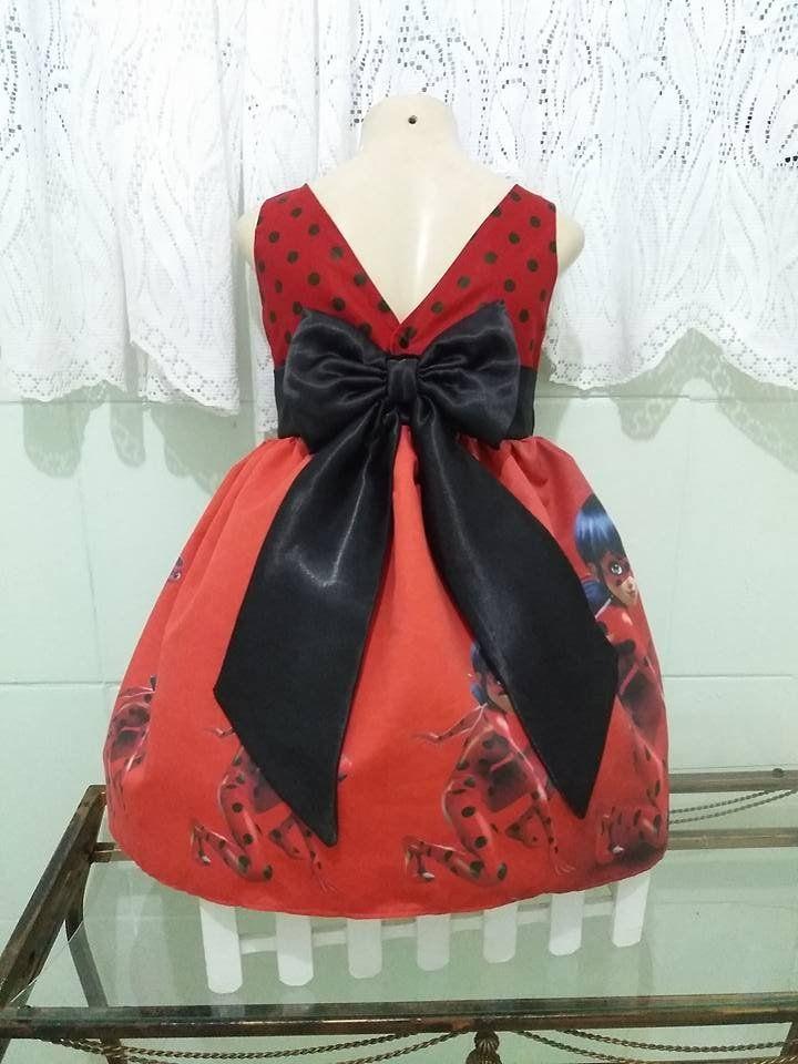 vestido infantil ladybug vestido de festa infantil ladybug vestido By Tia Gina