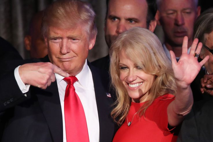 """On Tuesday, a presidential glass ceiling was broken — when Kellyanne Conway earned the distinction of being the first woman in history to run a winning campaign for the White House. """"It feels good,…"""